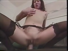 Korean Girl plays with her Pussy b4 a Facial