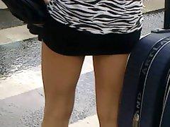 mini skirt legs public 10