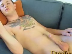 Hot Tattooed Str8 Stud Sucks Huge Cock