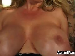 Big black fake cock between this cougar part4