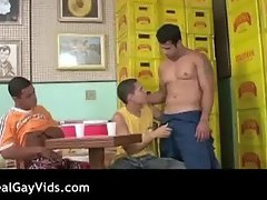 Awesome Latino gay hunks threesome part3