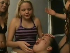 5 Girls Spit In One Girls Mouth Which She Does Not Like