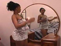 Pregnant black girl