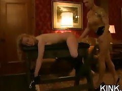 Sexy girl arrested for masturbating and gets bound