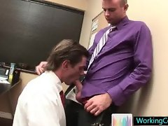 Hard working gay man in the office part6