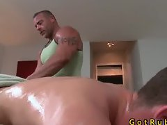 Massage turns into gay fucking part6