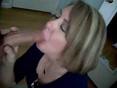 Sexy Blonde Milf BJ and Swallow - Demilf.com
