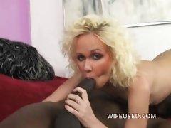 Blonde loves big black cock