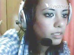Loziane mostrando os peitos na webcam