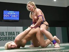 Horny blondes in the arena