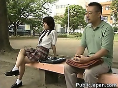 Asian model has hot public sex