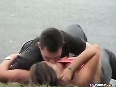 Voyeur Tapes A Couple Having Sex In Public