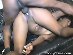 Black Girl Takes Rough Pussy Pounding Doggystyle
