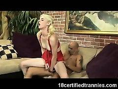 Shemale Cheerleader Cumming!