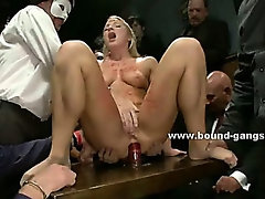 Sex slave tell her shrink all the brutal extreme gangbangs she was used in bondage deepthroats