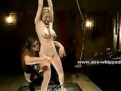 Lesbian college babes taking down mate and punishing her in rough humiliation strapon sex