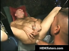Super hardcore S&M gay asshole fisting