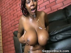 Black Ghetto Slut Force Fed White Cock And Choking