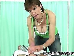Lady Sonia fleshlight handjob
