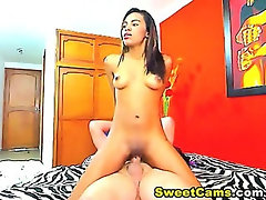 Latina Rides Big Hard White Cock HD