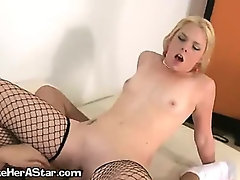 A Sexy Tattooed Blonde Girl Nearing Climax