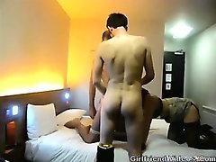 2 Guys Fuck Girl At Hotel