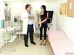 Latina Victoria Rose gyno exam with speculum