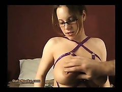 Amateur With Glasses Blows
