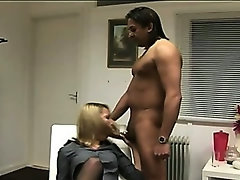 Nasty cfnm blonde gets naughty