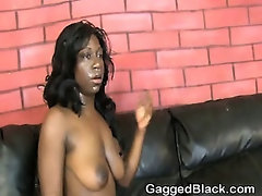 Black Slut Gets Her Face Very Roughly Fucked
