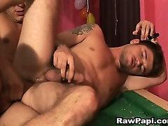 Sexy Latin Queer Bareback Action