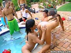wet and wild XXX pool party