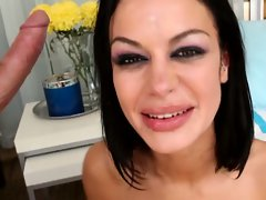 Angelina Valentine isn't scared about getting gagged by a monster cock