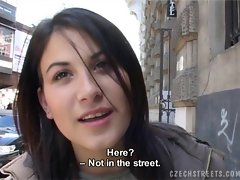 Czech Streets - Veronika blows dick for cash