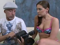 Gracie Glam is stretched by a huge meatpole