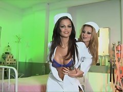 Black Angelica and Cindy Hope take a break from nursing duty for some fun