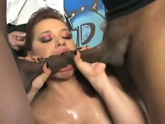 Patrizia Berger loves to open her mouth to multiple cocks for best results