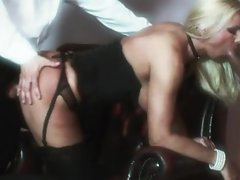 Winnie is a hot blonde wife who is shared with husband's friend in retro 3 way
