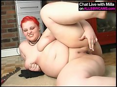 horny sexy fat BBW fucks herself 2