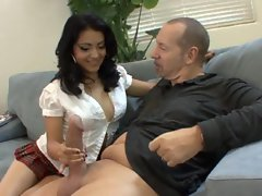 Horny step dad seduces his step daughter Andrea Kelly into fucking
