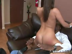 CeCe Stone rides her pussy on this massive dick