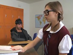 Riley Reid is a bad student who like getting banged inside of her classroom