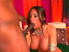 Horny mom Sheila Marie having her cunt pounding from behind by a black guy