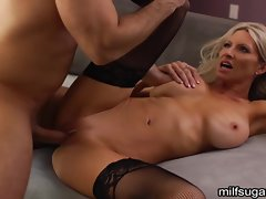 Emma Starr takes this hard dick deep in her moist pussy