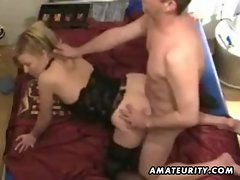 Amateur couple homemade hardcore action