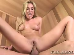 Horny Victoria White bounces her ass on this hard dick