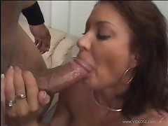 Vanessa Videl enjoys slurping on his stiff skin flute