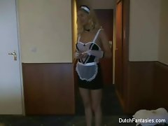 Dutch Maid Fucks Hotel Guest