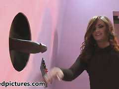 Lily Carter has double fun at a gloryhole