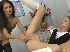 Raunchy Megan Coxxx finger fucks Eufrat's slit